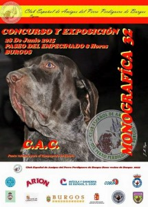 cartel monografica perdiguero de burgos 2015
